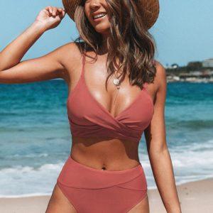 marsala twist bikini